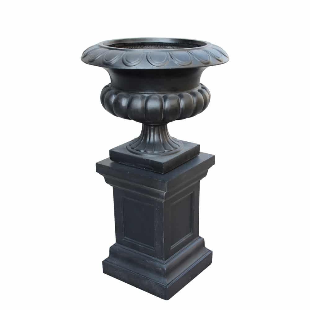 Stonelite-urn-81111and81112-Charcoal