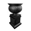 Line 2.3 – Stonelite – Ornate Urn and Ornate Pedestal – Charcoal – 81146 – 81147