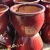 9058OB-South-China-Glaze-Belly-Planter-Ox-Blood-Red-display
